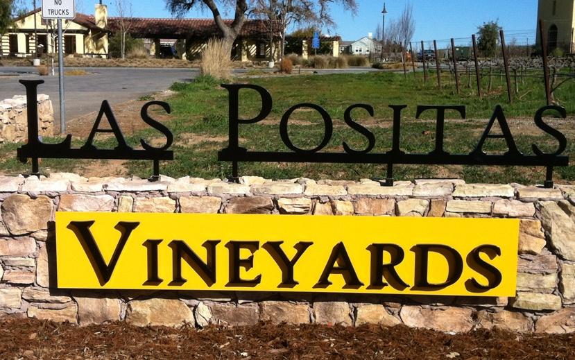 Las Positas Vineyard Sign by Aqua Jet, LLC