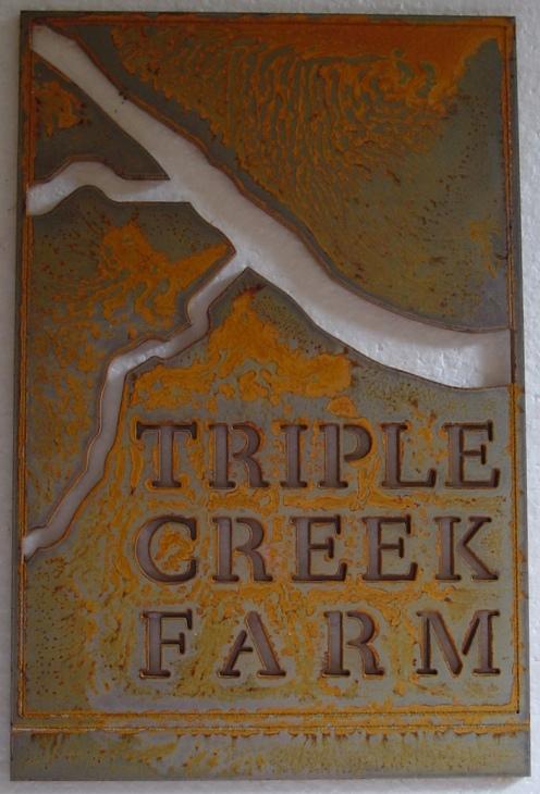 Triple Creek Farm sign