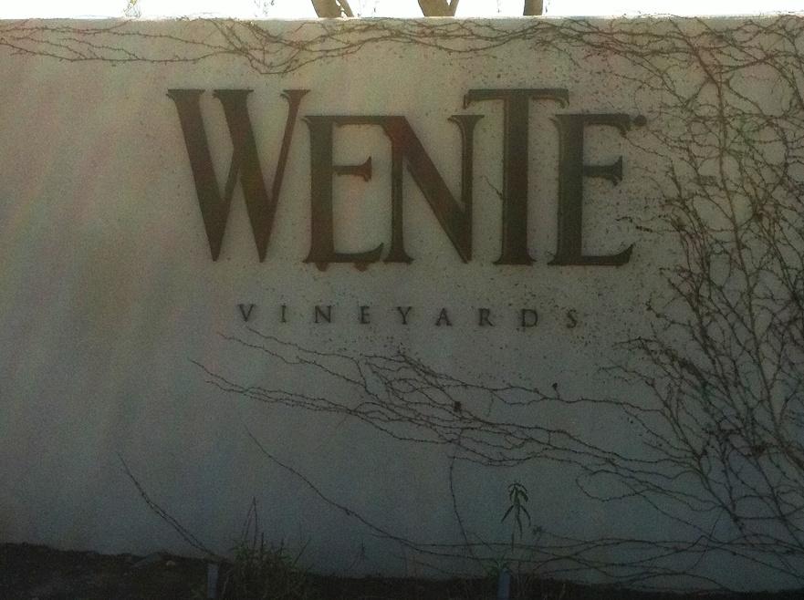Wente Vineyard Sign Waterjet Cut by Aqua Jet, LLC.
