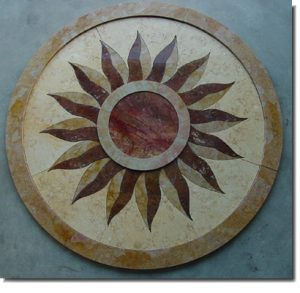 Cherukuri Residence Stone Medallion 2 frontal view